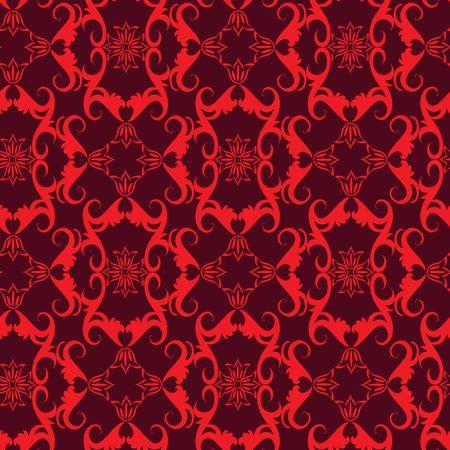 red swirl: Modello di ornamento ricciolo rosso senza saldatura Vettoriali