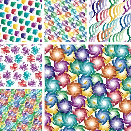 Seamless vivid ornament backgrounds Vector
