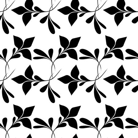 Seamless black and white floral wallpaper Stock Vector - 6668645