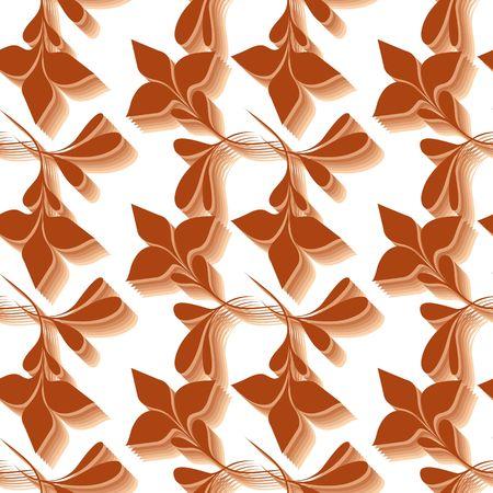 Seamless brown flower wallpaper Stock Vector - 6668725
