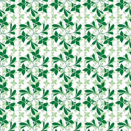 Seamless green plant wallpaper on white Stock Vector - 6684874