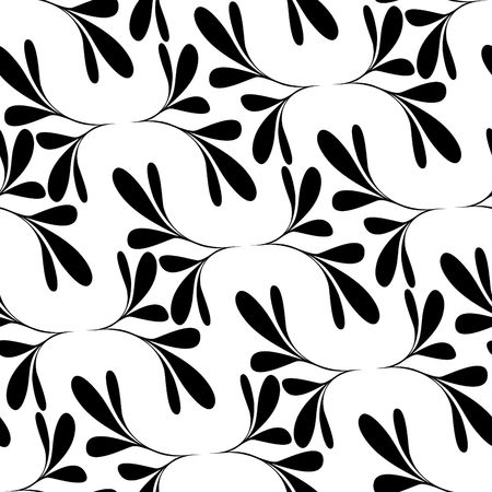 Seamless black and white floral wallpaper Stock Vector - 6707984