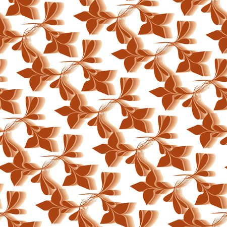 Seamless brown flower wallpaper Stock Vector - 6708023