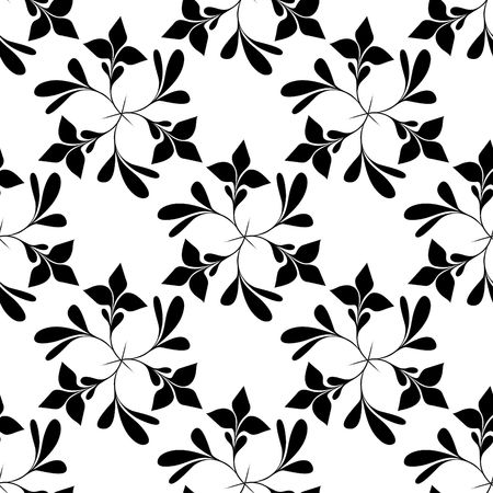 Seamless black and white floral wallpaper Stock Vector - 6707995