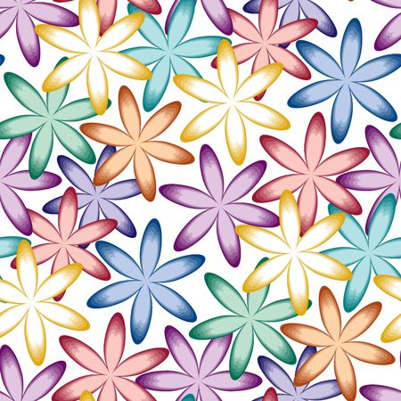 numerous: Vivid colorful repeating flower background