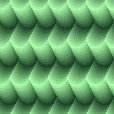 Seamless abstract 3d green texture Stock Vector - 6821822