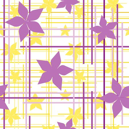Seamless floral wallpaper with violet flowers Stock Vector - 6821828