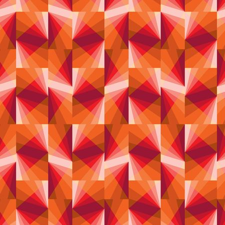 Seamless pattern with hot color tiles Vector