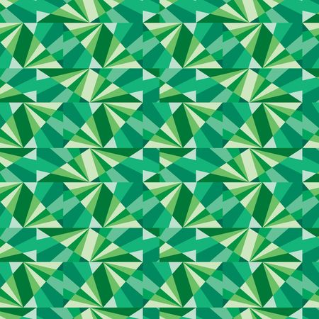 Seamless pattern with green tiles Vector