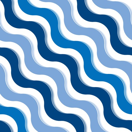 meshwork: Seamless abstract blue wave texture Illustration