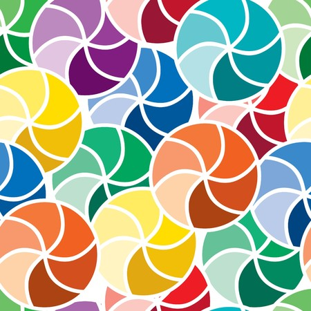 Vivid colorful repeating abstract seamless background Vector