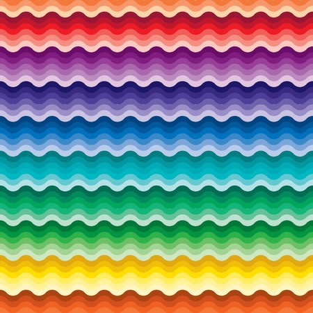 Seamless vivid rainbow wave background