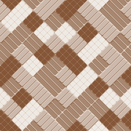 Seamless pattern with brown tiles Vector