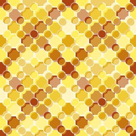 Seamless pattern with brown yellow tiles Vector