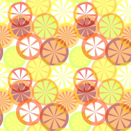 Vector seamless citrus background Vector