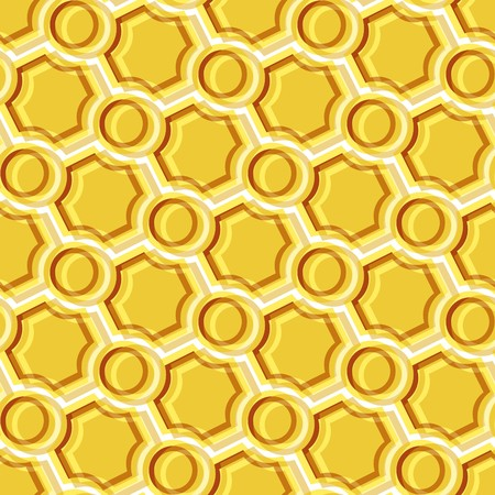 Seamless pattern with yellow tiles Stock Vector - 7046077