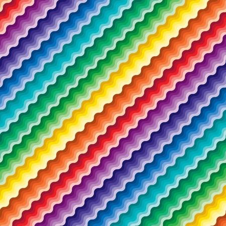 Seamless vivid rainbow wave background Vector