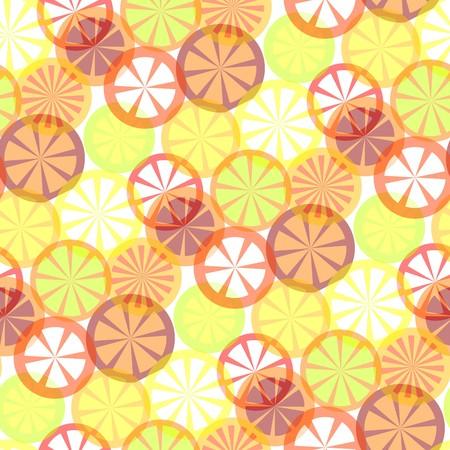 seamless citrus background Vector