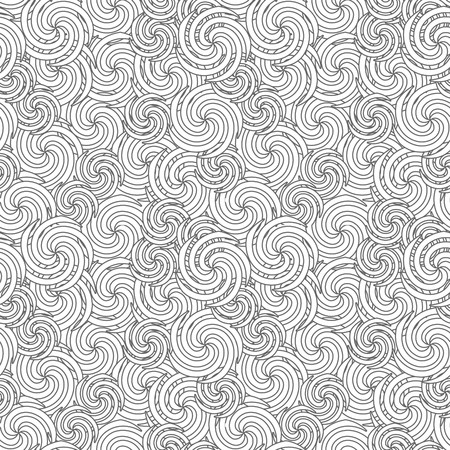 Seamless  background. Floral swirl ornament pattern Vector