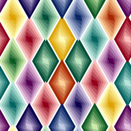 Retro vivid seamless rhombus background Vector