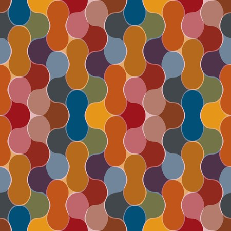 Seamless bulb pattern with multicolor elements Vector