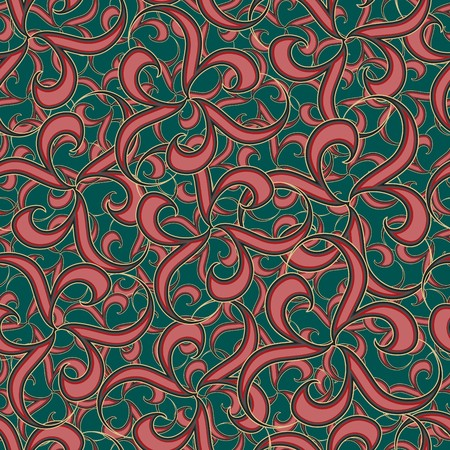chaotical: Seamless red abstract pattern