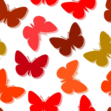 pink and brown: Seamless  wallpaper with butterfly