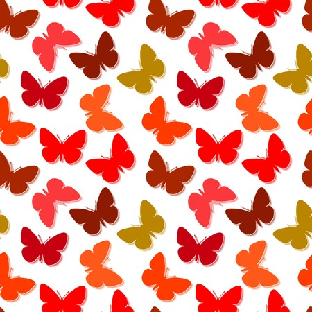 Seamless wallpaper with butterfly Vector Illustration