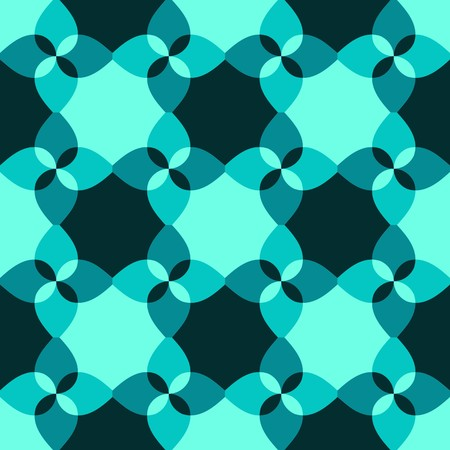 chaotical: Seamless blue abstract swirl pattern