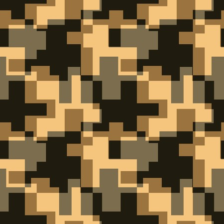 geometric pattern in a square: Seamless brown tile  pattern Illustration
