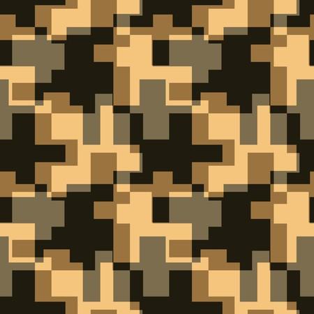 geometric design: Seamless brown tile  pattern Illustration