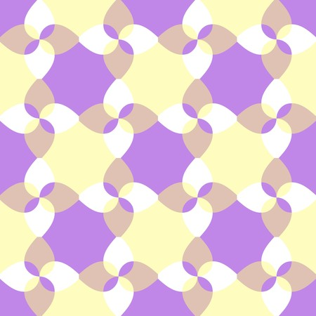 chaotical: Seamless yellow violet abstract swirl pattern