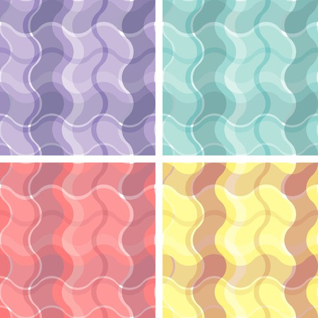 Collection of seamless plaid patterns Vector