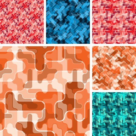 Set of seamless material patterns Vector