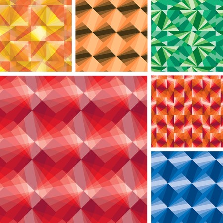 Set of seamless pattern with tiles Vector