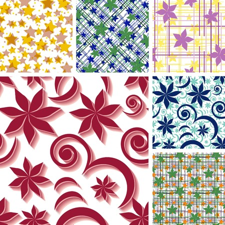 Seamless floral wallpapers with flowers Vector