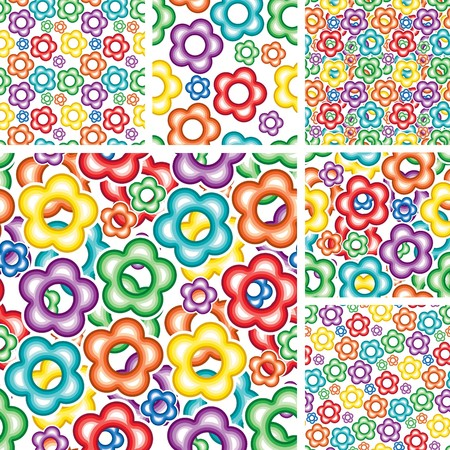 Seamless floral wallpapers with flowers Stock Vector - 7995251