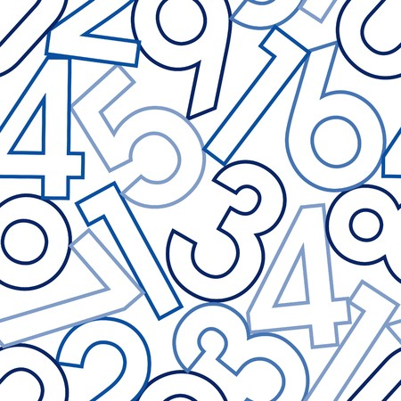 Numbers. Seamless  wallpaper on white Vector