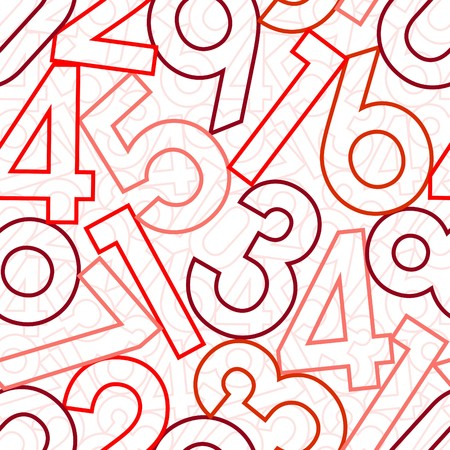 Numbers. Seamless wallpaper on white Stock Vector - 8246331