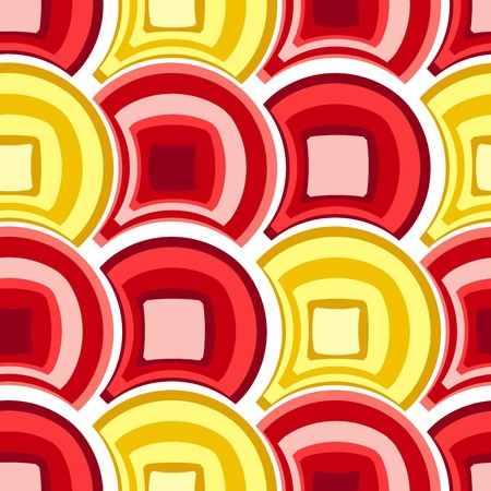 Seamless red tile  pattern Vector