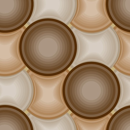 Seamless brown tile pattern Vector