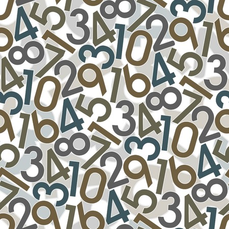 Numbers. Seamless   wallpaper on white Stock Vector - 8388467