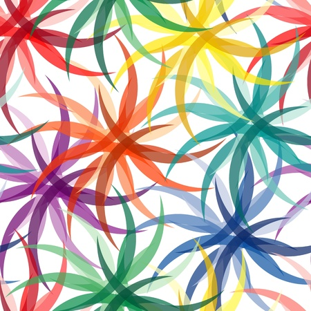 Vivid colorful repeating flower seamless background Stock Vector - 9151930