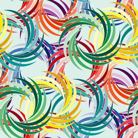 Vivid colorful repeating abstract seamless background on blue Illustration