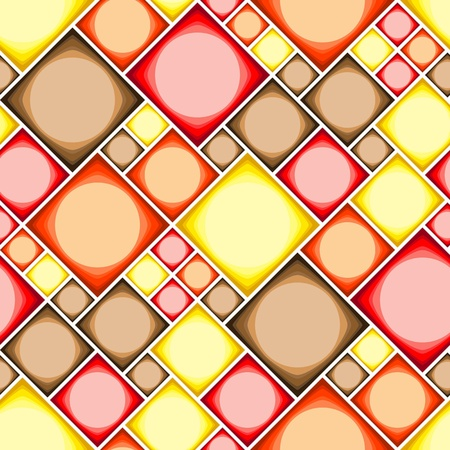 Seamless modern tile pattern in hot colors Vector
