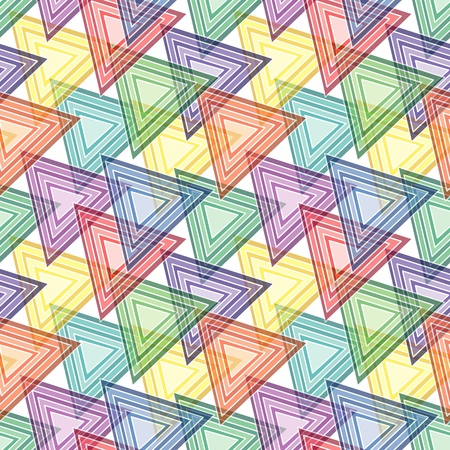 Retro vivid seamless background with multicolor triangles Vector