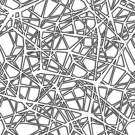 spider net: Seamless spider web. Connected black lines on white background