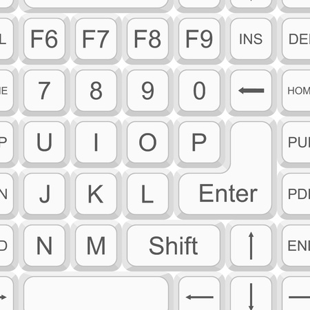 Modern digital background. Seamless pattern with computer keyboard keys Stock Vector - 10901681