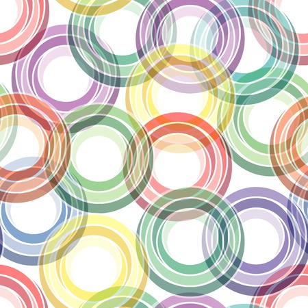 Retro seamless background with multicolor vivid rings Vector