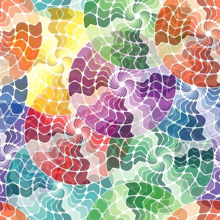 square detail: Patr�n sin fisuras con azulejos multicolores c�rculo